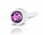 KOLCZYKI MEDICAL PLASTIK AMETHYST 4mm